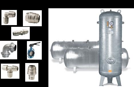 Druckluftnetz, Druckluftkessel, Druckluft, Flex-Air, Druckluftverteilung, Steckverschraubungen